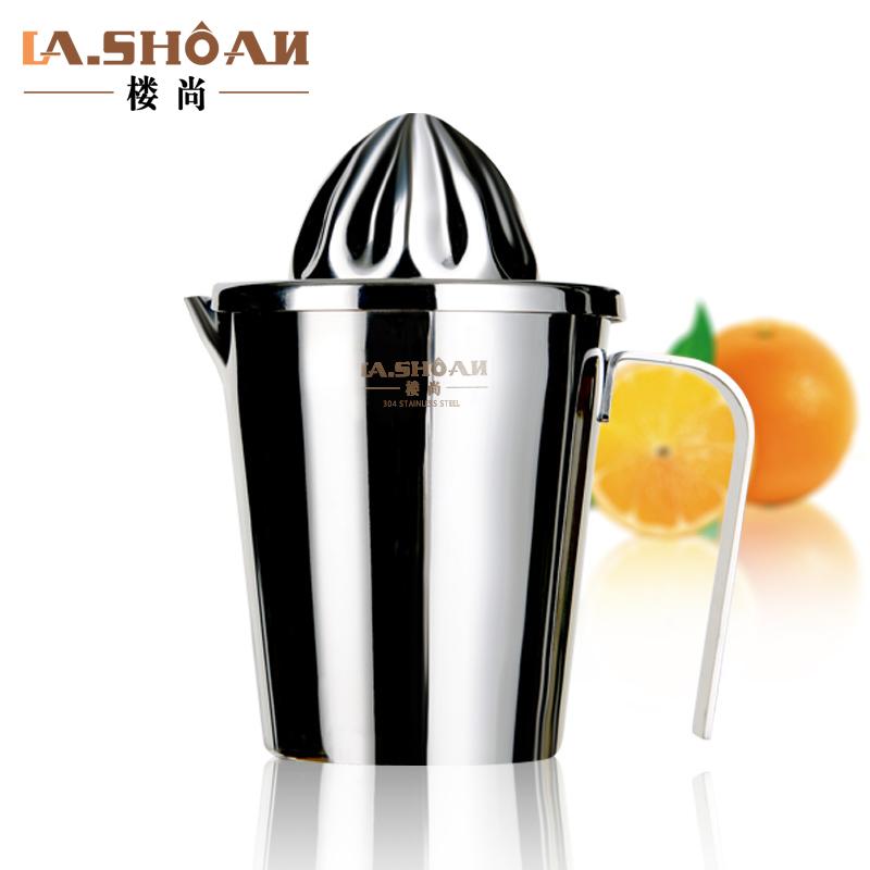 樓尚檸檬榨汁杯壓汁器304不鏽鋼家用手動迷你行動式橙子擠榨汁機