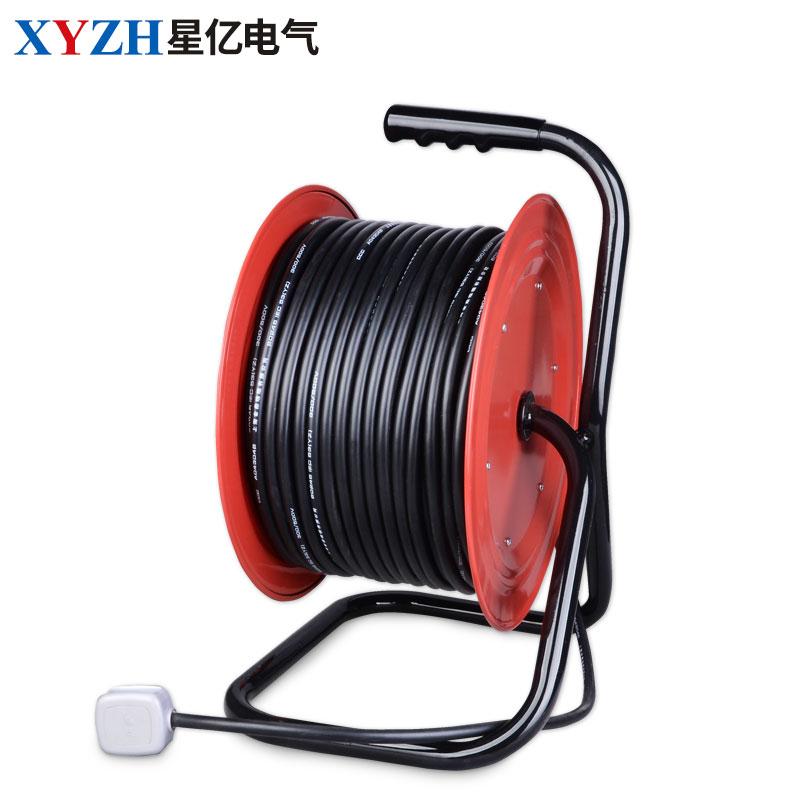 金属无轮移动电缆盘50米绕线30米盘手提盘220v16a10A带电缆线缆盘