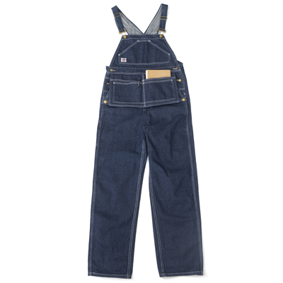 Lab store 日系美式复古牛仔宽松款背带裤情侣 one wash OVERALLS