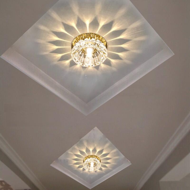 花灯水晶花形吸顶灯入户门厅灯