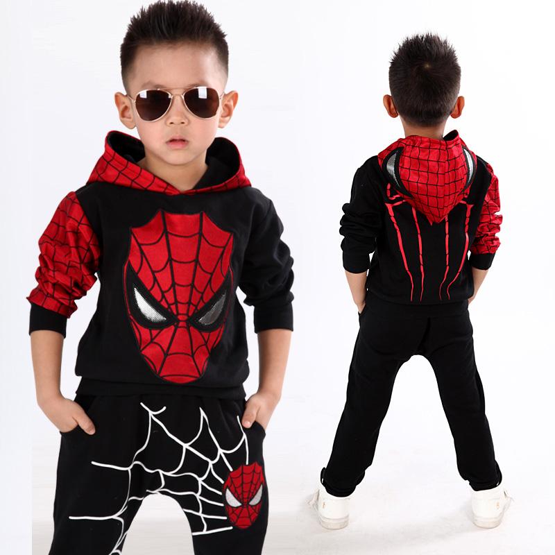 男童装小男孩春装运动套装2儿童5岁3-9岁春秋季卡通蜘蛛侠两件套