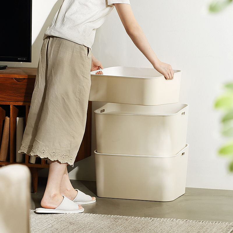 懒角落 塑料收纳箱有盖衣服收纳盒 玩具整理箱衣柜储物箱子62801
