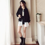 Maternity Jacket Autumn Top 2019 New Korean Loose Print Jacket Mid-length Windbreaker Fake Two Jackets