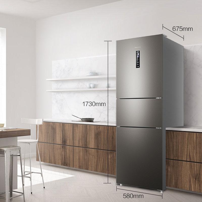 海信 BCD-252WYK1DPUJ智能电冰箱家用三开门式风冷无霜变频静音小