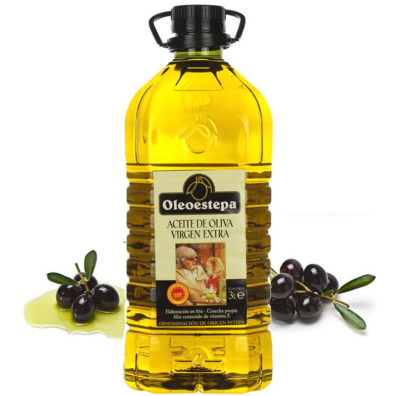 升烹饪 3 食用油 3L 特级初榨橄榄油 PDO 西班牙奥莱奥原生原装进口欧盟