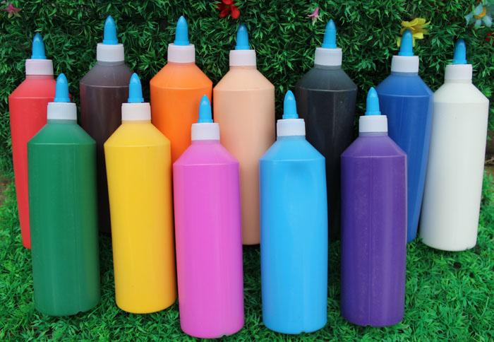 丙烯颜料500mldiy涂鸦彩绘画水粉颜料石膏画陶瓷搪胶娃娃环保颜料