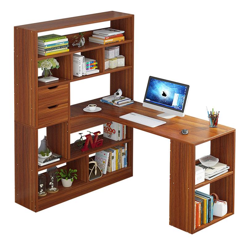 亿家达电脑桌台式书桌家用学生桌办公桌现代简约书桌书架一体桌子