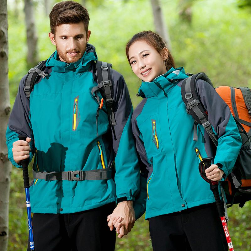 新款户外冬季冲锋衣男女三合一加绒加厚两件套防风防水登山服 2020