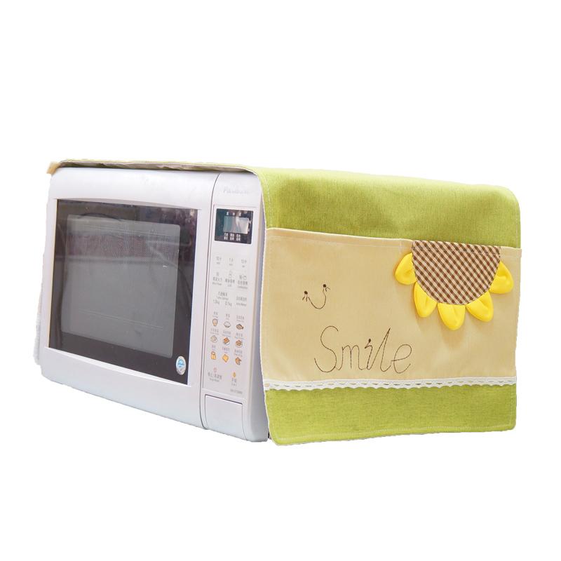 微波炉罩电烤箱罩防尘罩布艺格兰仕美的海尔松下盖巾盖布通用欧式【图5】