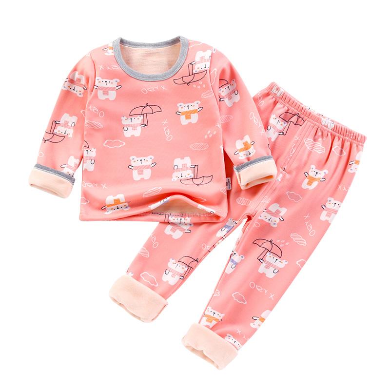 【南极人】儿童超柔绒保暖内衣套装