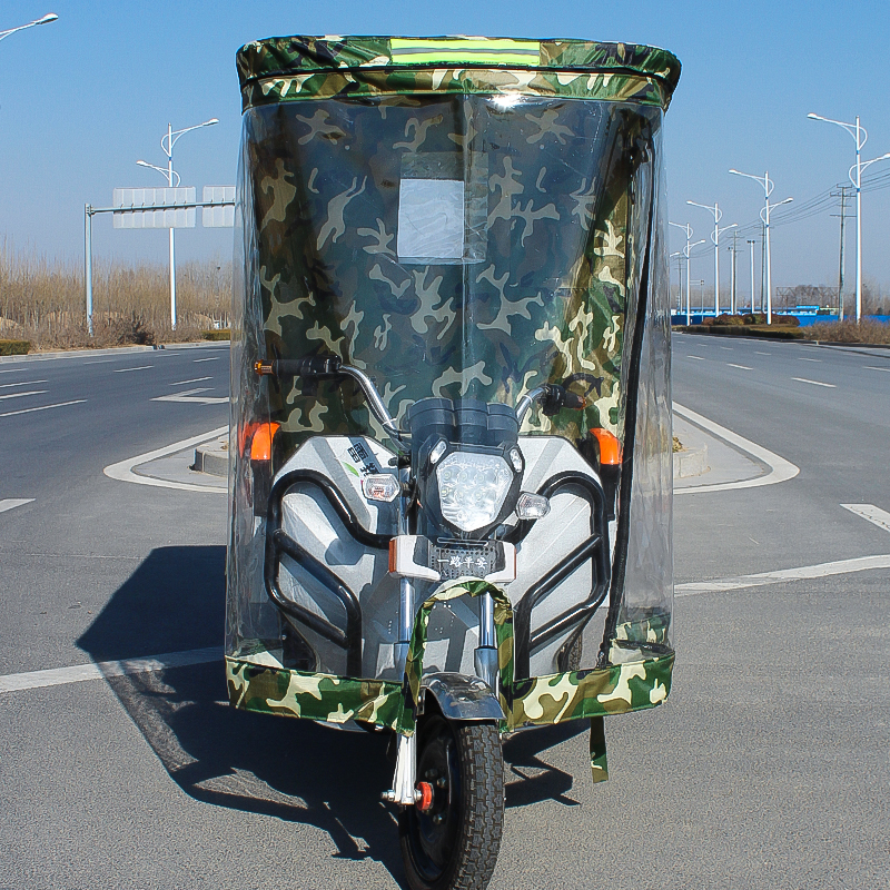 電動三輪車車棚遮雨篷駕駛室全封閉電瓶車三輪車雨棚車篷前車頭棚