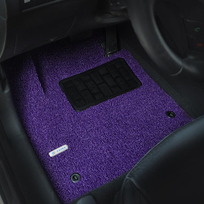司机位副驾驶正驾驶座位 丝圈汽车脚垫单个主驾驶脚垫单片 彩八