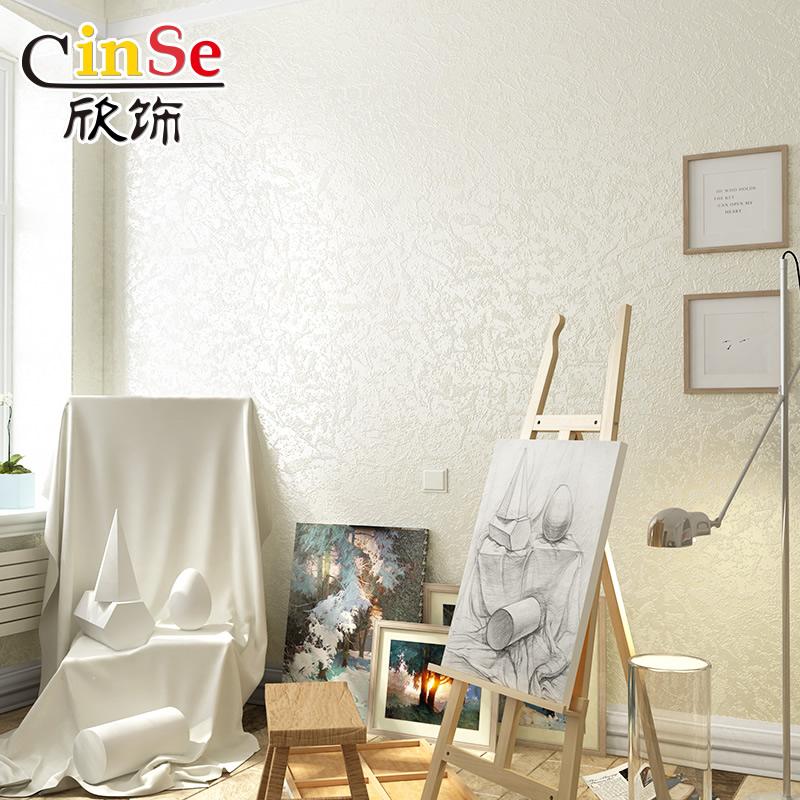 纯色3D硅藻泥墙纸素色北欧式美式卧室无纺布壁纸家用客厅现代简约