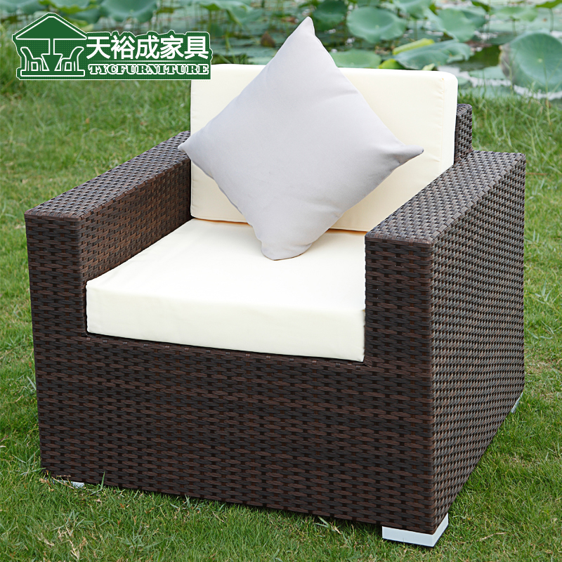 天裕成 藤沙发 藤椅沙发藤艺沙发阳台沙发仿藤沙发组合 户外沙发