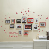 13 small fresh living room photo wall frame decorative frame wall combination photo frame wall creative bedroom wall