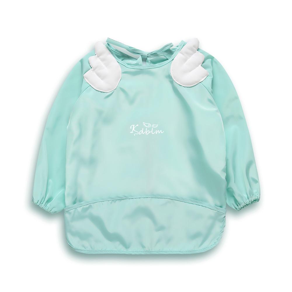 儿童防水罩衣长袖冬季男女宝宝婴儿围兜画画反穿衣幼儿园吃饭围裙