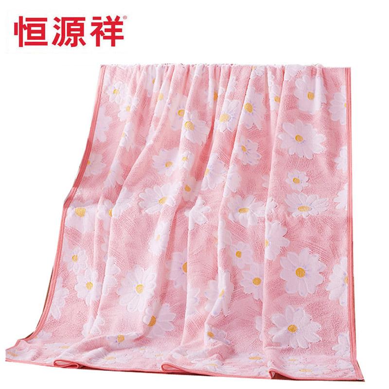 恒源祥全棉经编加厚毛巾被毛巾毯纯棉单人双人夏季空调毯垫毯儿童