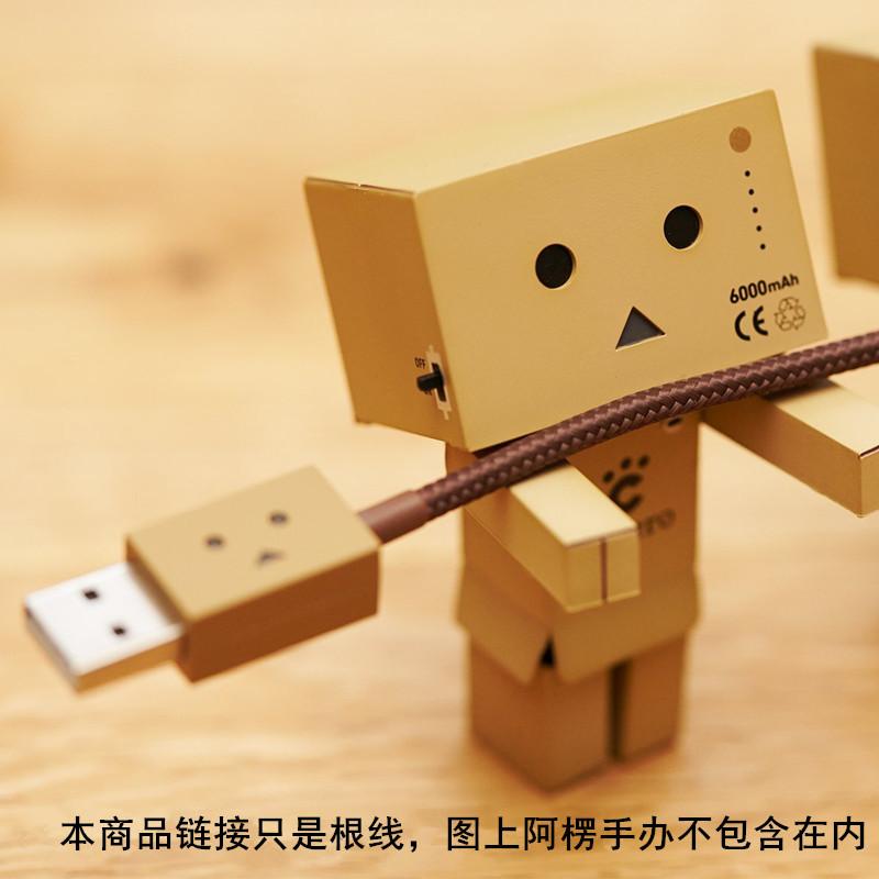 日本CHEERO紙箱人阿楞usb可愛呆萌蘋果MFI認證線充電線iphone