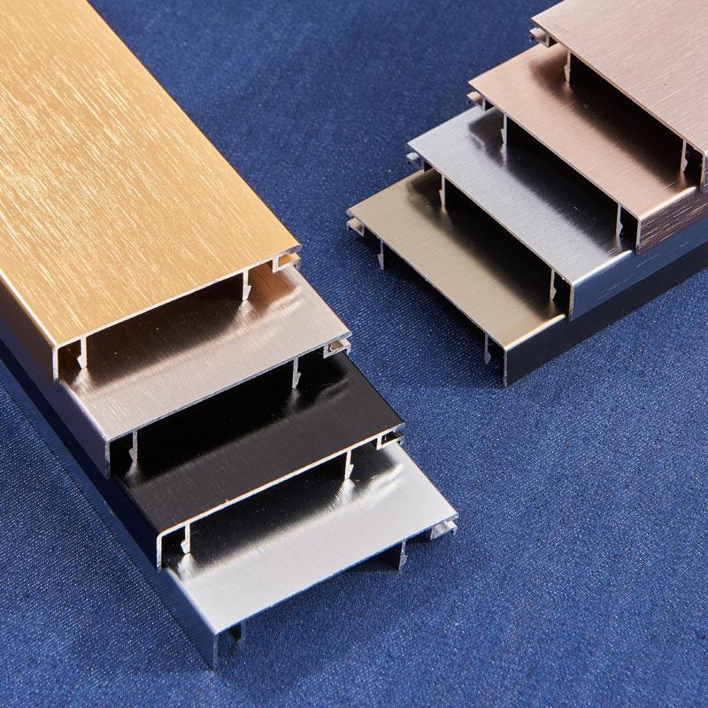 铝合金踢脚线不锈钢地脚线贴脚线白色拉丝墙角线地角线地板踢脚板