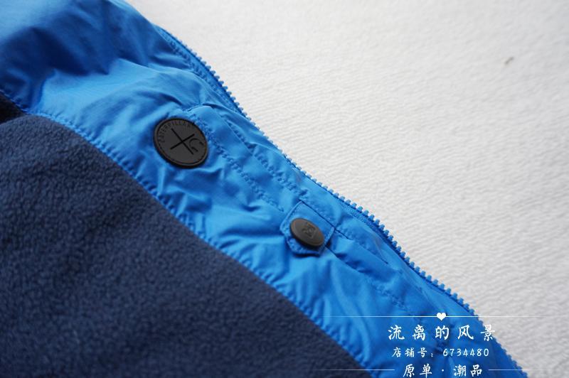 欧洲单工业男士立领内衬摇粒绒超保暖防雨防寒面包棉服马甲棉背心