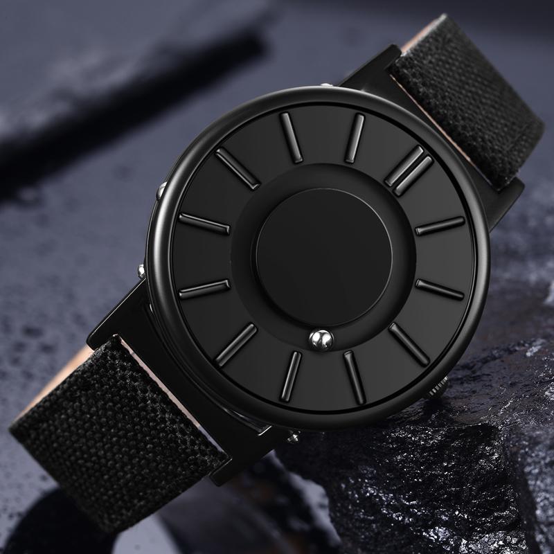 浪花一朵朵同款手表男女创意无指针新概念防水石英表磁力钢珠女表