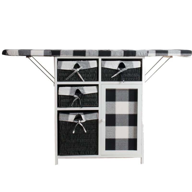 烫衣板家用折叠大号台式高档多功能熨衣架熨衣板实木多功能收纳柜