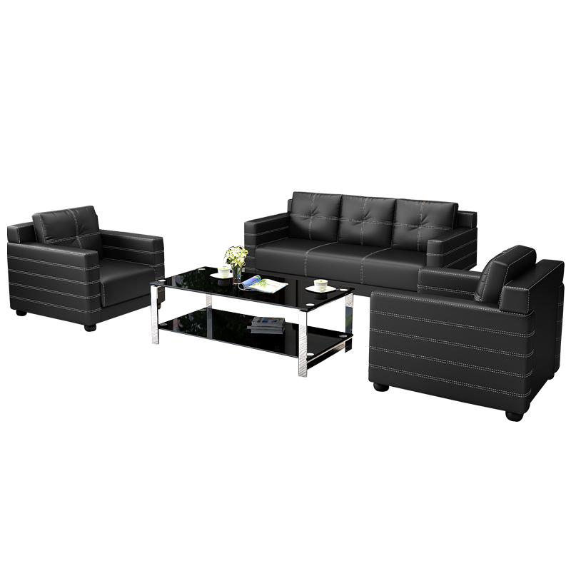店沙发客户休息室办公沙发 4S 商务办公沙发茶几组合会客区沙发洽谈