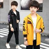 Children's clothing boy windbreaker jacket spring and autumn 2019 new children's long section boy coat spring and autumn Korean version of the tide clothes