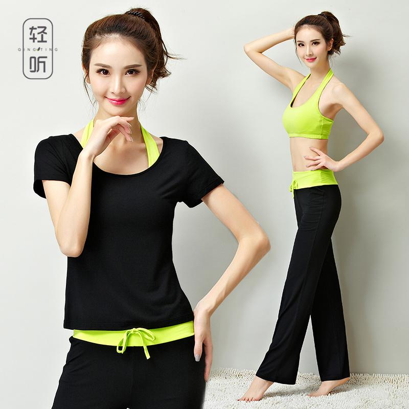 瑜伽服女夏季時尚莫代爾棉黑色性感薄款運動衣套裝夏天初學者顯瘦