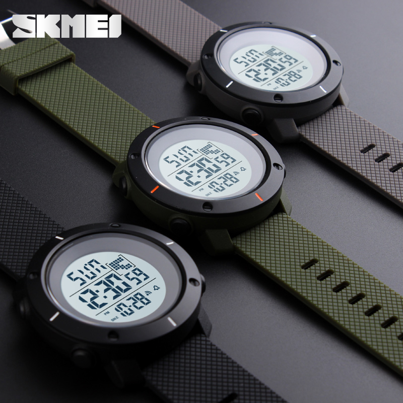男士大表盘防水户外运动电子表时尚潮流多功能夜光青少年学生手表