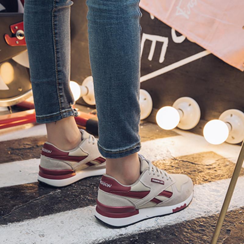 运动鞋女2020新款韩版ulzzang原宿百搭秋冬季旅游加絨女鞋子跑鞋