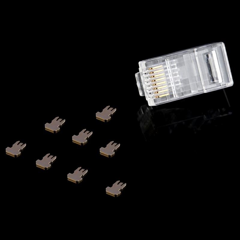 德爵 超六类非屏蔽网络8p8c水晶头网线RJ45接头100个/盒 包邮