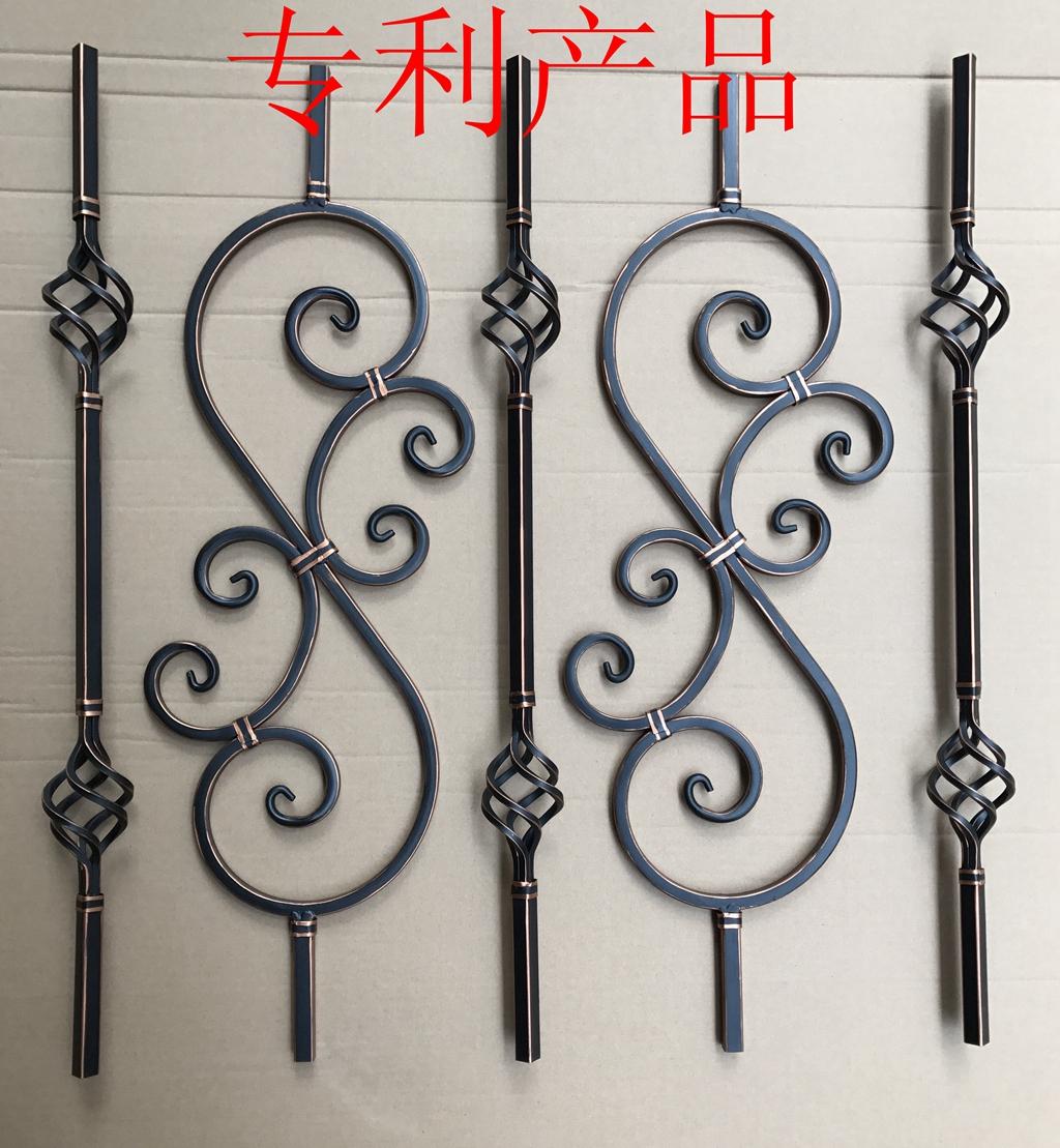 专利产品空心管铁艺楼梯配件扶手护栏立柱阁层柱子组装式走廊栏杆