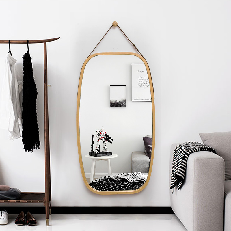全身镜女家用镜子贴墙半身镜挂镜试衣镜落地镜门厅壁挂穿衣镜