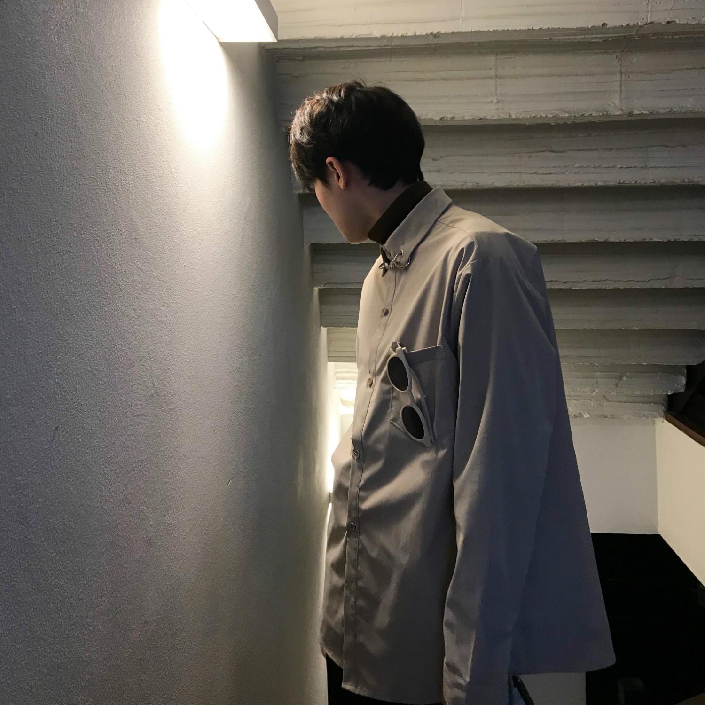 jmhomme男休闲19春秋装优雅男衬衫