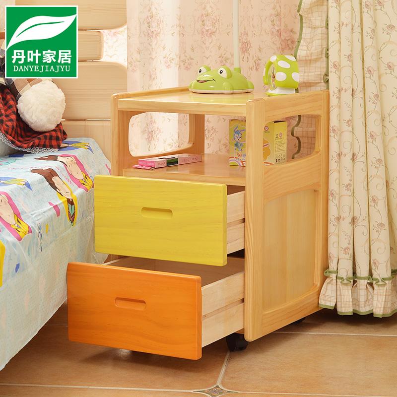 实木床头柜松木小迷你简易收纳储物柜子简约现代创意卧室边柜宿舍