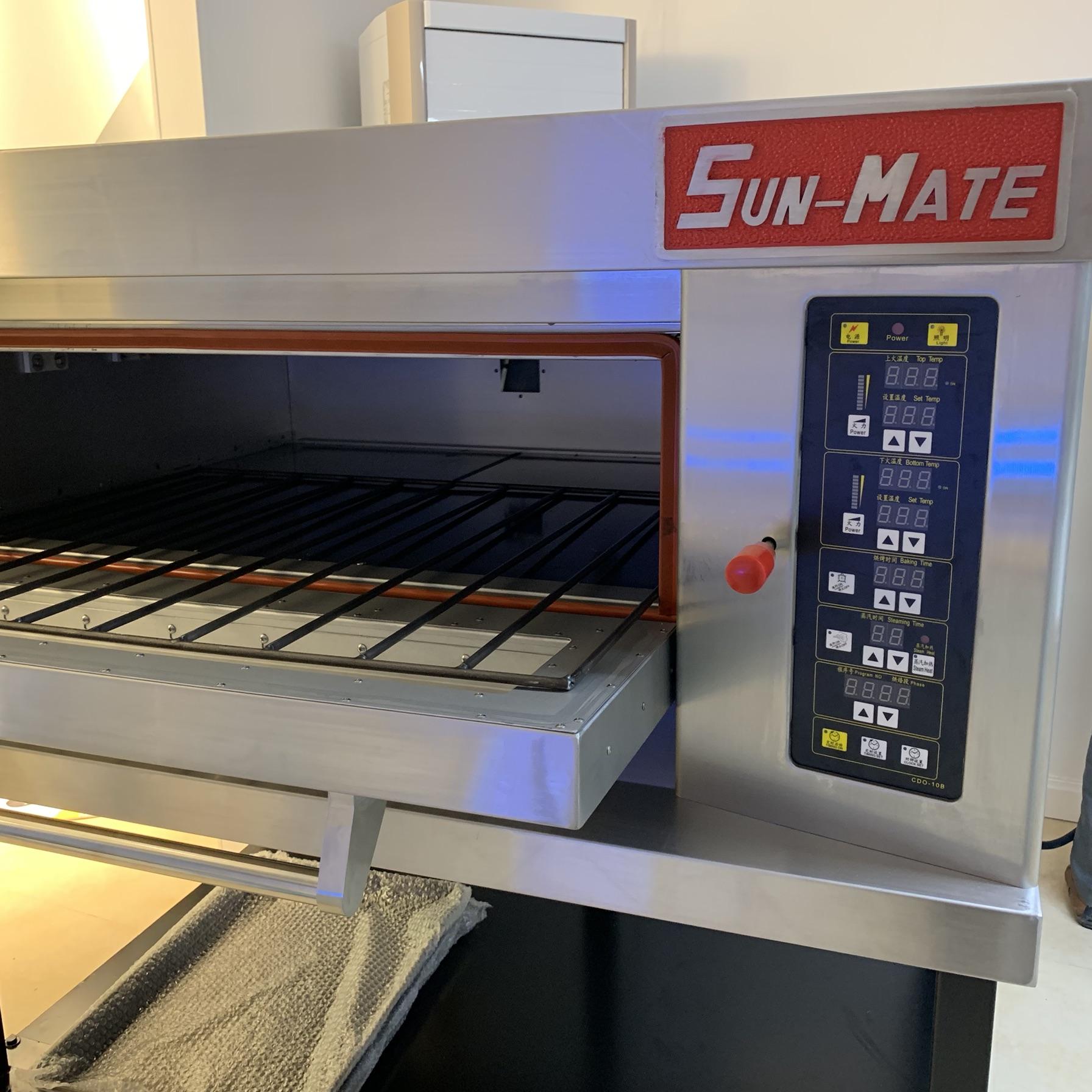 三麦SEC-1Y电脑版三麦烤箱可加蒸汽烤欧包一层两盘商用烤箱烘焙