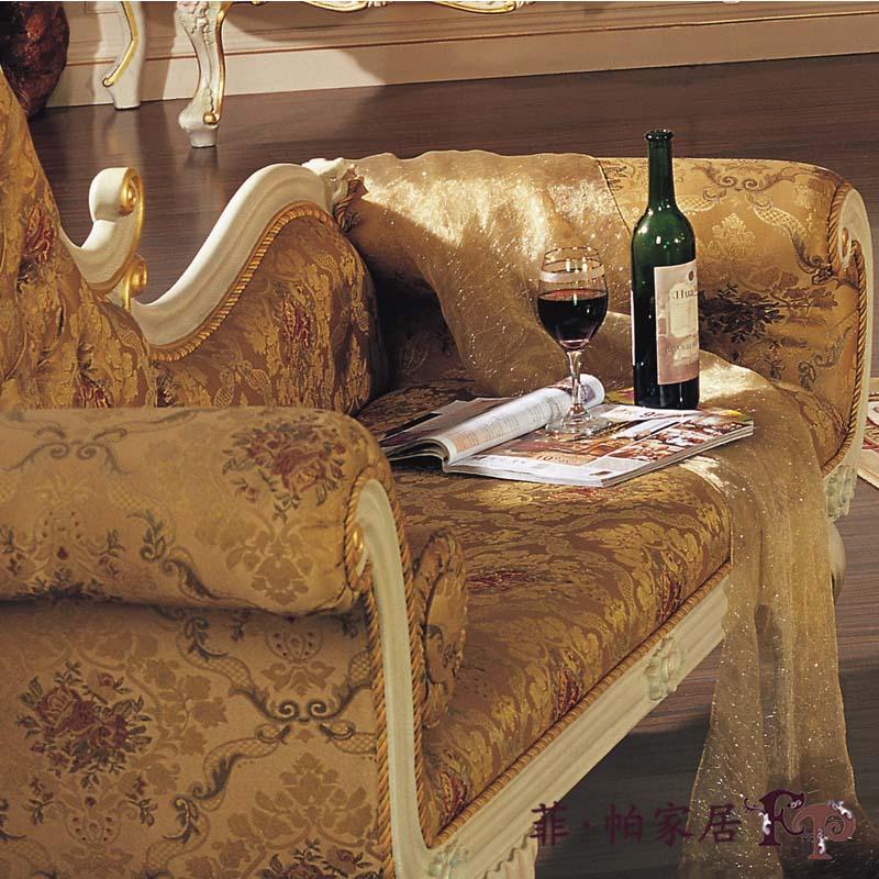 法式浪漫古典家具 手工实木雕刻欧式华丽贵妃椅躺椅卧室沙发躺椅