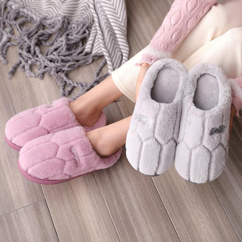 棉拖鞋女冬厚底情侣可爱韩版学生宿舍家居防滑室内防滑拖鞋月子鞋