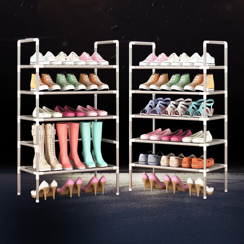 簡易鞋架 五層六層七層自由組合鞋櫃宜家超低價無防塵罩一件包郵