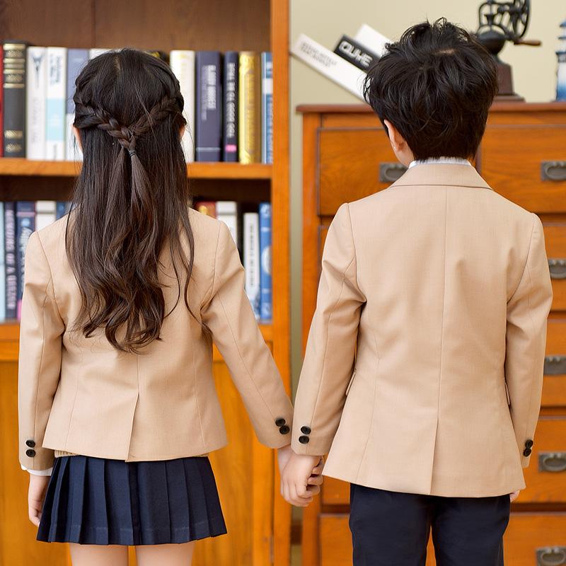 西装班服小学生校服男女童三件套装春秋冬季英伦学院风幼儿园园服