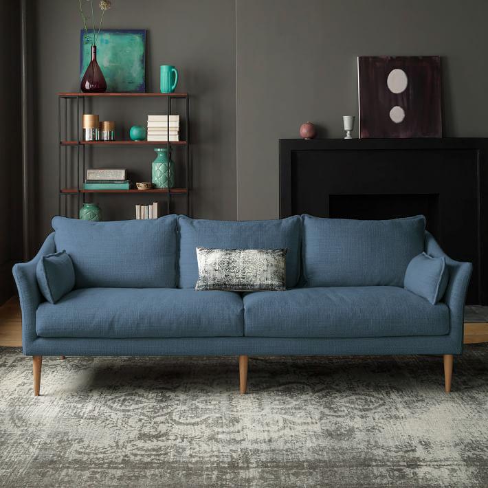 北欧三人沙发现代简约小户型家具日式风格羽绒乳胶布艺组合单双位