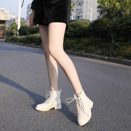 秋冬款马丁靴英伦板鞋休闲平底鞋