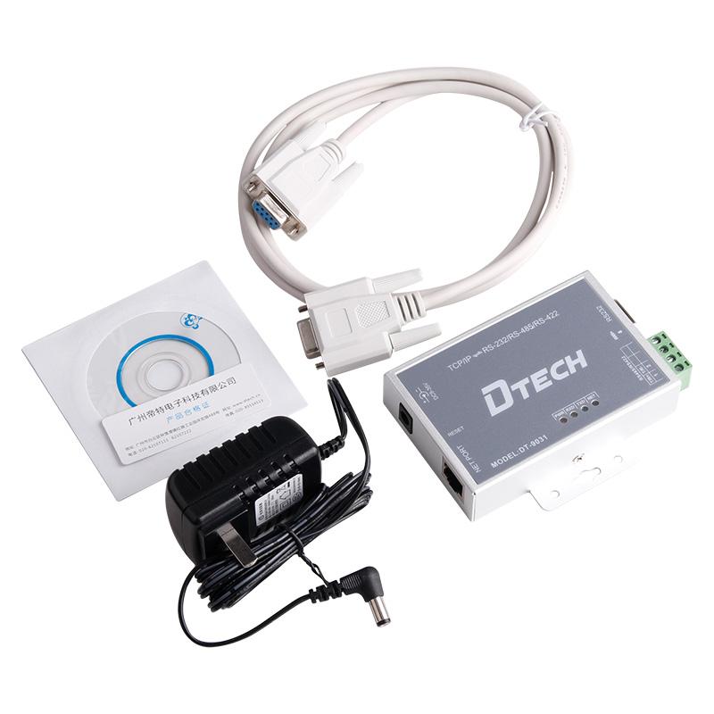 帝特DT-9031串口通讯服务器 网络IP/TCP转rs232 422 rs485转换器