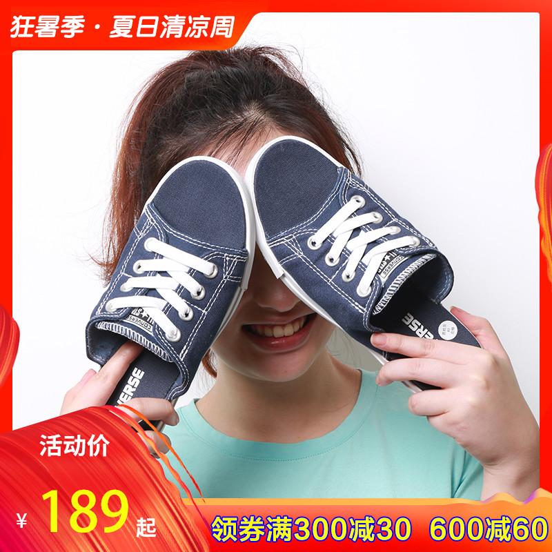 Converse匡威女鞋2019夏新款男經典帆布一字拖鞋150247C 150249C