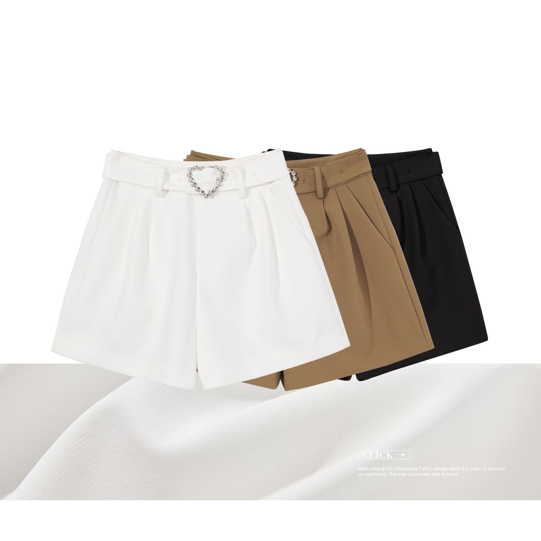 V213DKG002 摆短裤 A 爱心装饰日字扣 摆短裤 A 爱心钻扣