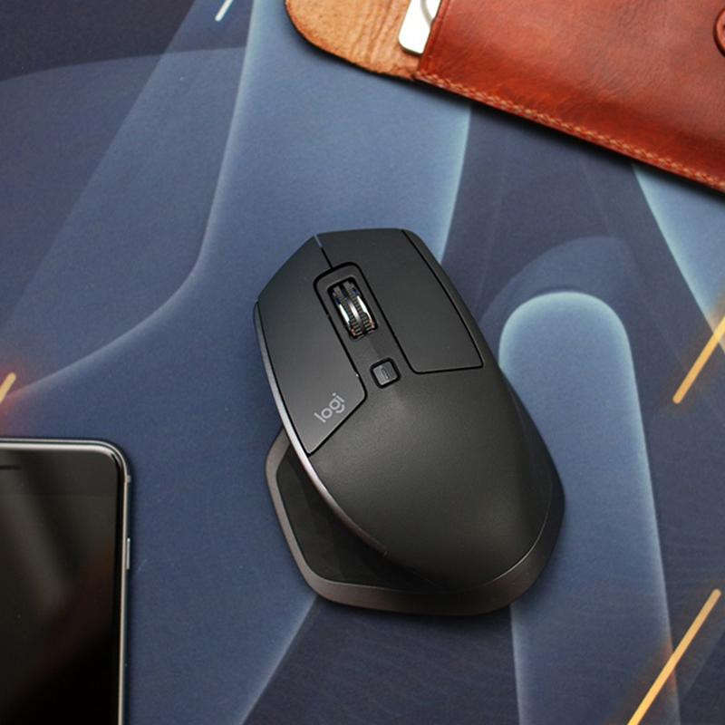 罗技MX Master 2S 3 办公蓝牙充电无线鼠标 多设备切换 一年换新