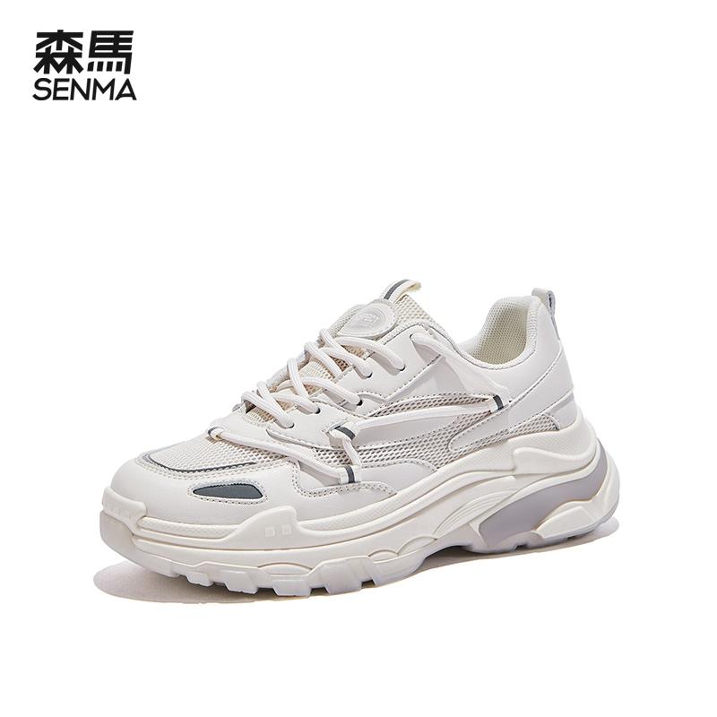 森马 老爹鞋 女 2021年新款 厚底运动鞋