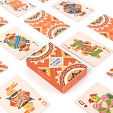 Mini children's playing card puzzle early education math kindergarten game creative cartoon cute personality retro girl