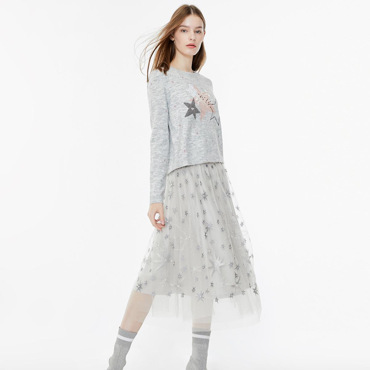 [聚]【关晓彤同款】ONLY春季新款针织两件套连衣裙女|119446520